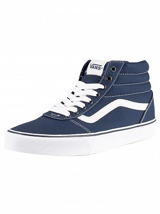 Vans Dress Blue/White Ward Hi Canvas Trainers