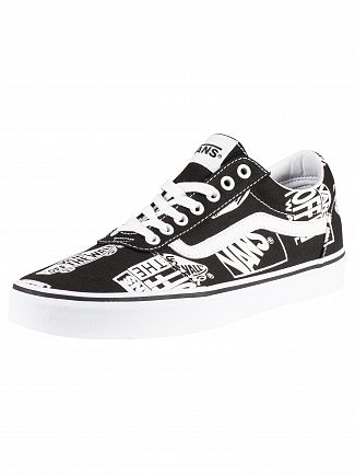 Vans Black/White Ward Logo Mix Trainers