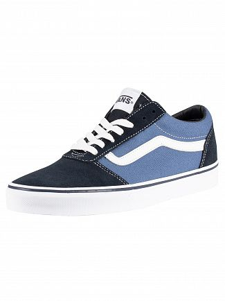 Vans Navy/White Ward Suede Canvas Trainers