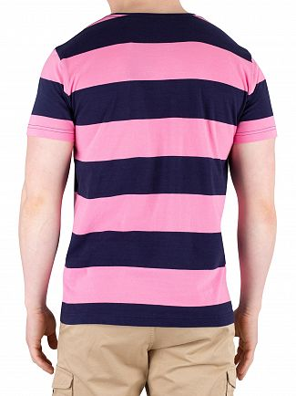 Gant Pink Rose Original Barstripe T-Shirt