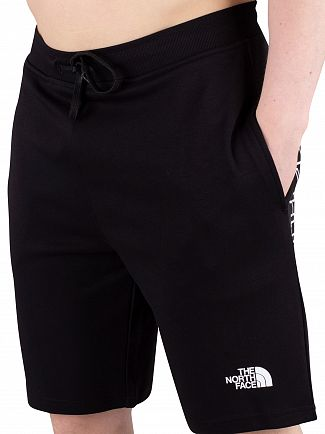 The North Face Black Graphic Sweatshorts