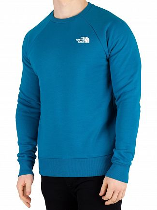 The North Face Crystal Teal Raglan Redbox Sweatshirt