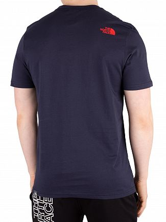 The North Face Urban Navy/Fiery Red Easy T-Shirt