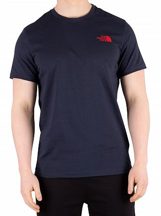 The North Face Urban Navy/Fiery Red Simple Dome T-Shirt