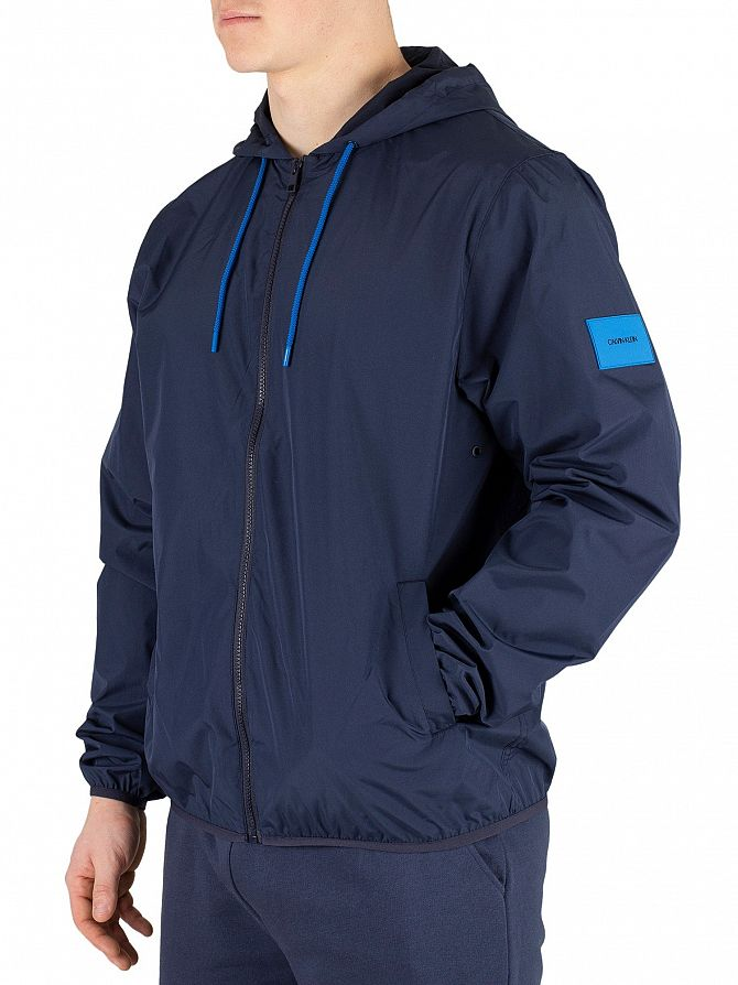 Calvin Klein Blue Shadow Light Windbreaker Jacket
