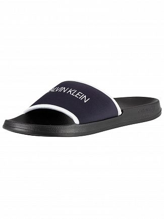 Calvin Klein Blue Shadow Logo Sliders