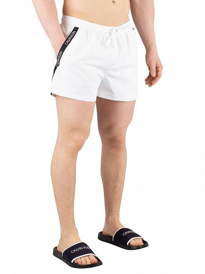 Calvin Klein White Short Drawstring Swim Shorts