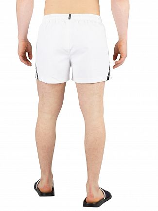 Calvin Klein White Short Drawstring Swim Shorts