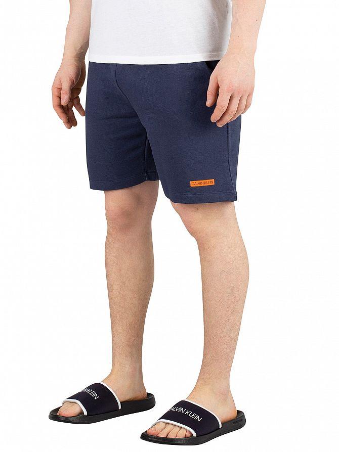 Calvin Klein Blue Shadow Terry Sweat Shorts