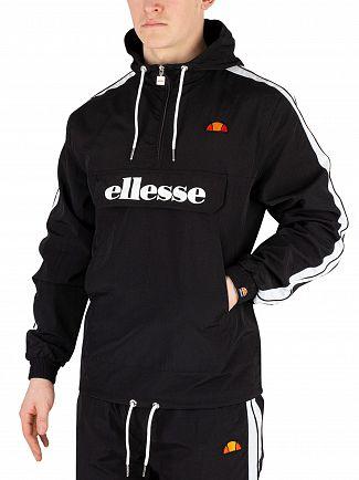 Ellesse Black Fighter 1/2 Zip Track Jacket