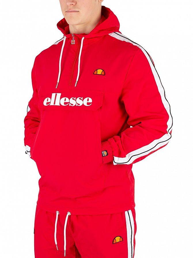 Ellesse Red Fighter 1/2 Zip Track Jacket