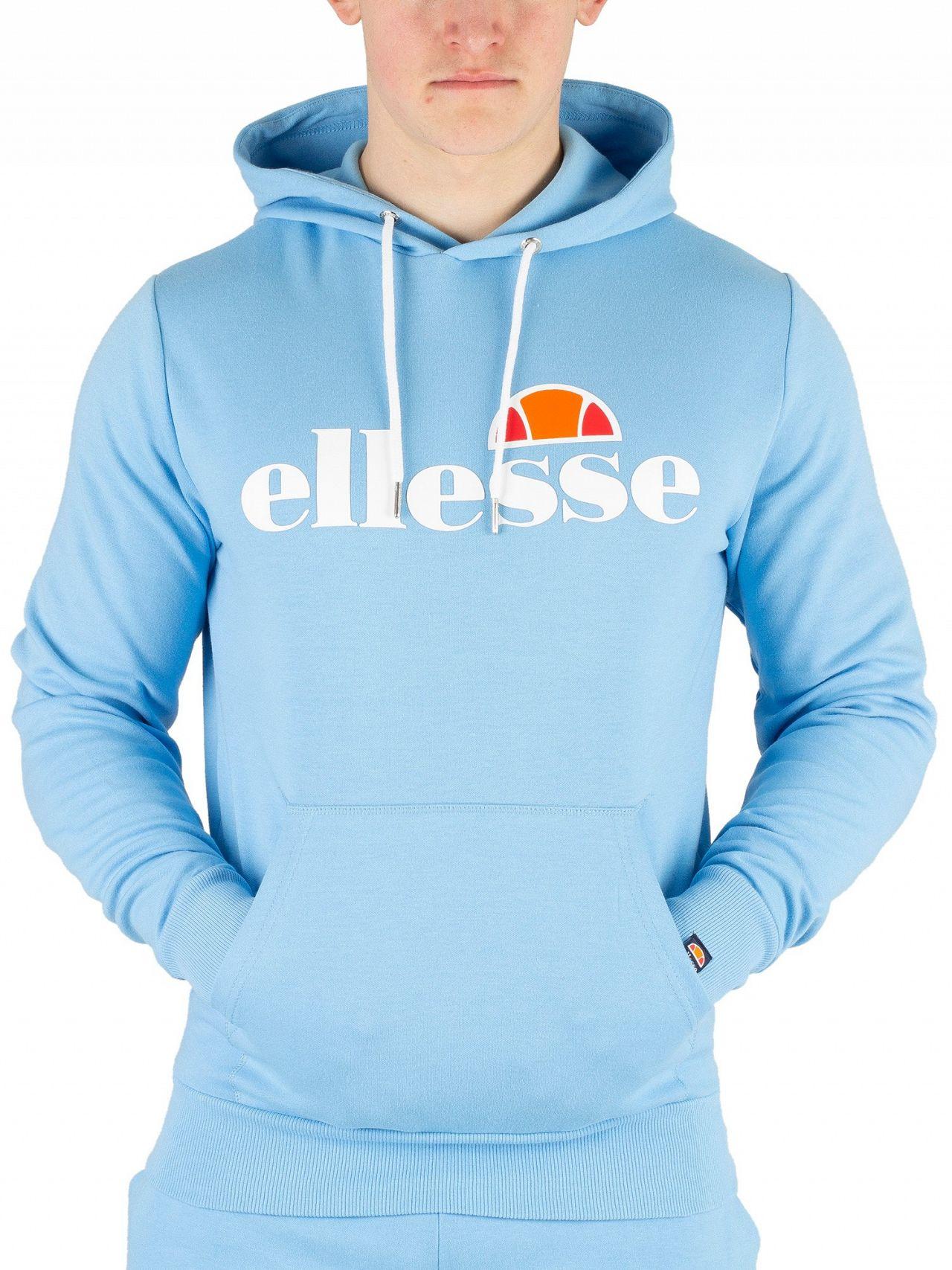 5a20dc9a Ellesse Light Blue Runaway Pullover Hoodie