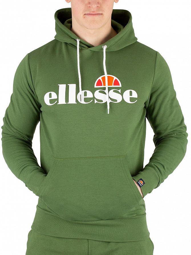 Ellesse Dark Green Runaway Pullover Hoodie