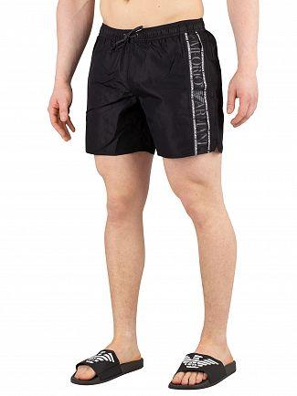 Emporio Armani Black Boxer Swim Shorts