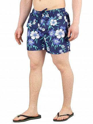 Gant Persian Blue Floral Swim Shorts