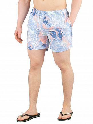 Gant Mid Blue Wave Swim Shorts