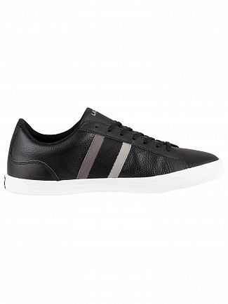 Lacoste Black/Dark Grey Lerond 119 3 CMA Leather Trainers