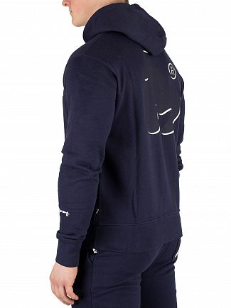 Money Navy Shadow Sig Ape Pullover Hoodie