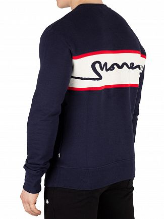 Money Navy Sig Link Panel Sweatshirt