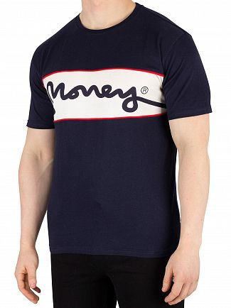 Money Navy Sig Link Panel T-Shirt