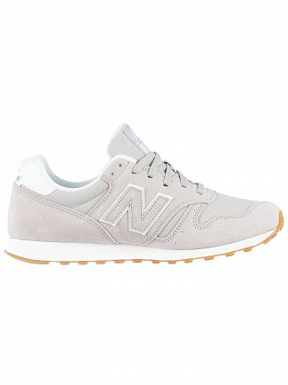 New Balance Grey 373 Suede Trainers