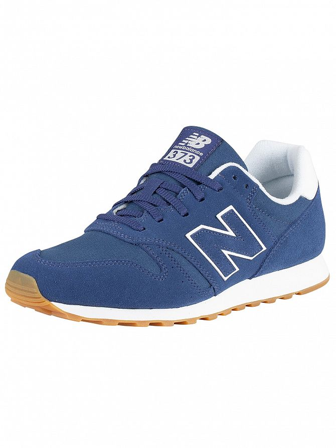 New Balance Blue 373 Suede Trainers
