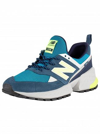 New Balance Blue/Green/Grey 574 Suede Trainers