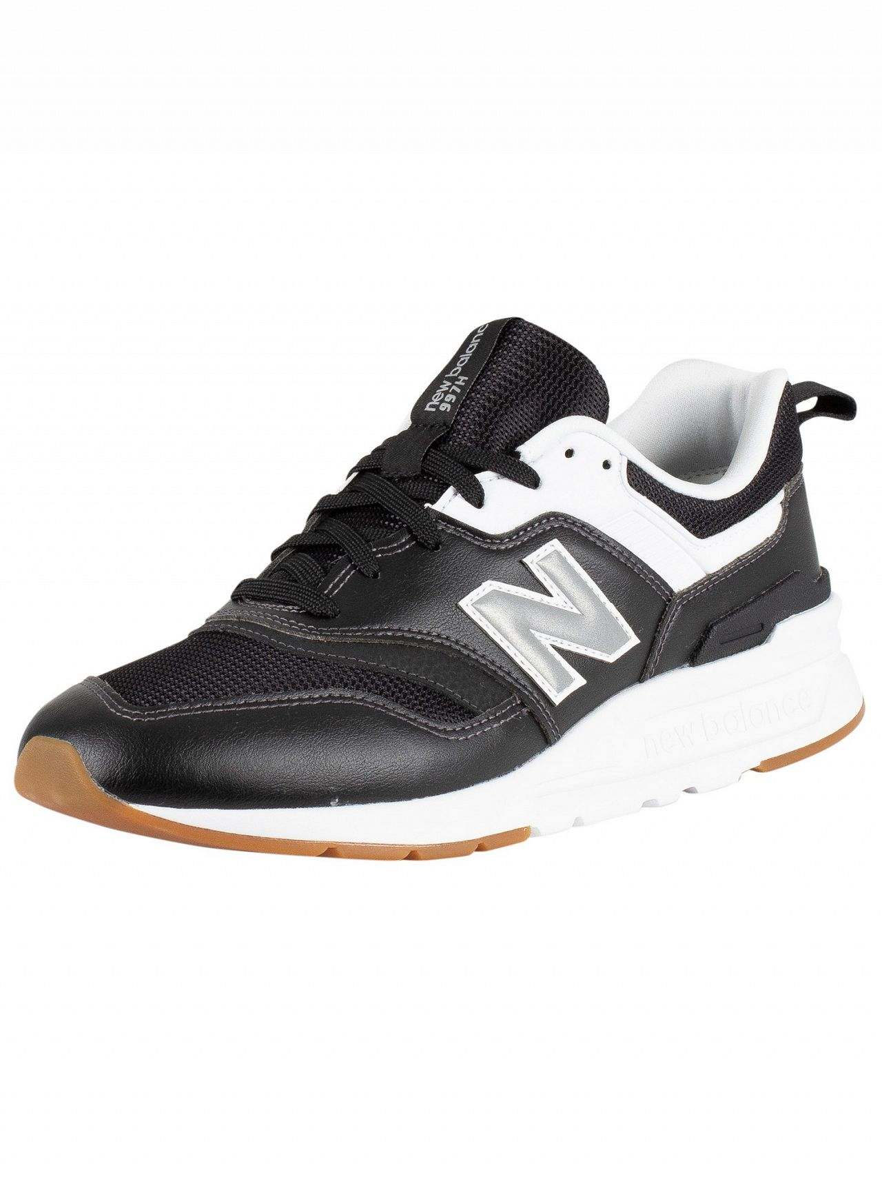 a66524dd69 New Balance Black/White 997 Leather Trainers