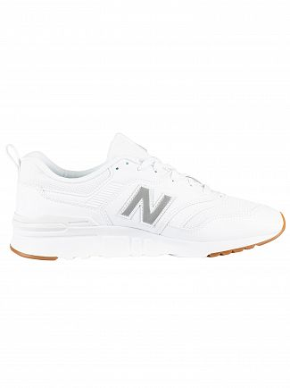 New Balance White 997 Leather Trainers