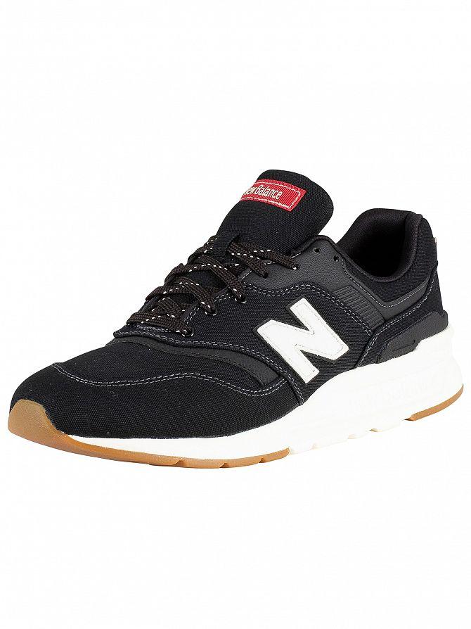 New Balance Black/White 997 Trainers