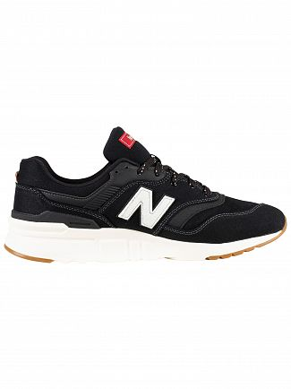 New Balance Black/White 997 Trainers
