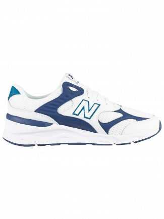 New Balance White X-90 Leather Mesh Trainers