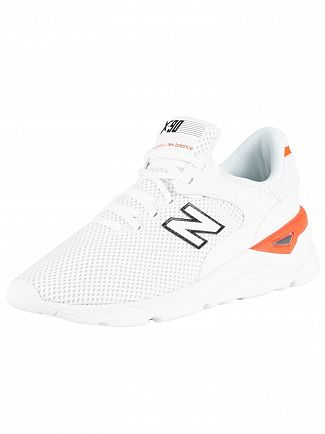 New Balance White X-90 Mesh Trainers