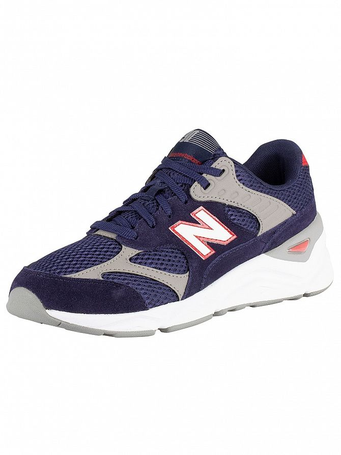 New Balance Blue X-90 Suede Trainers
