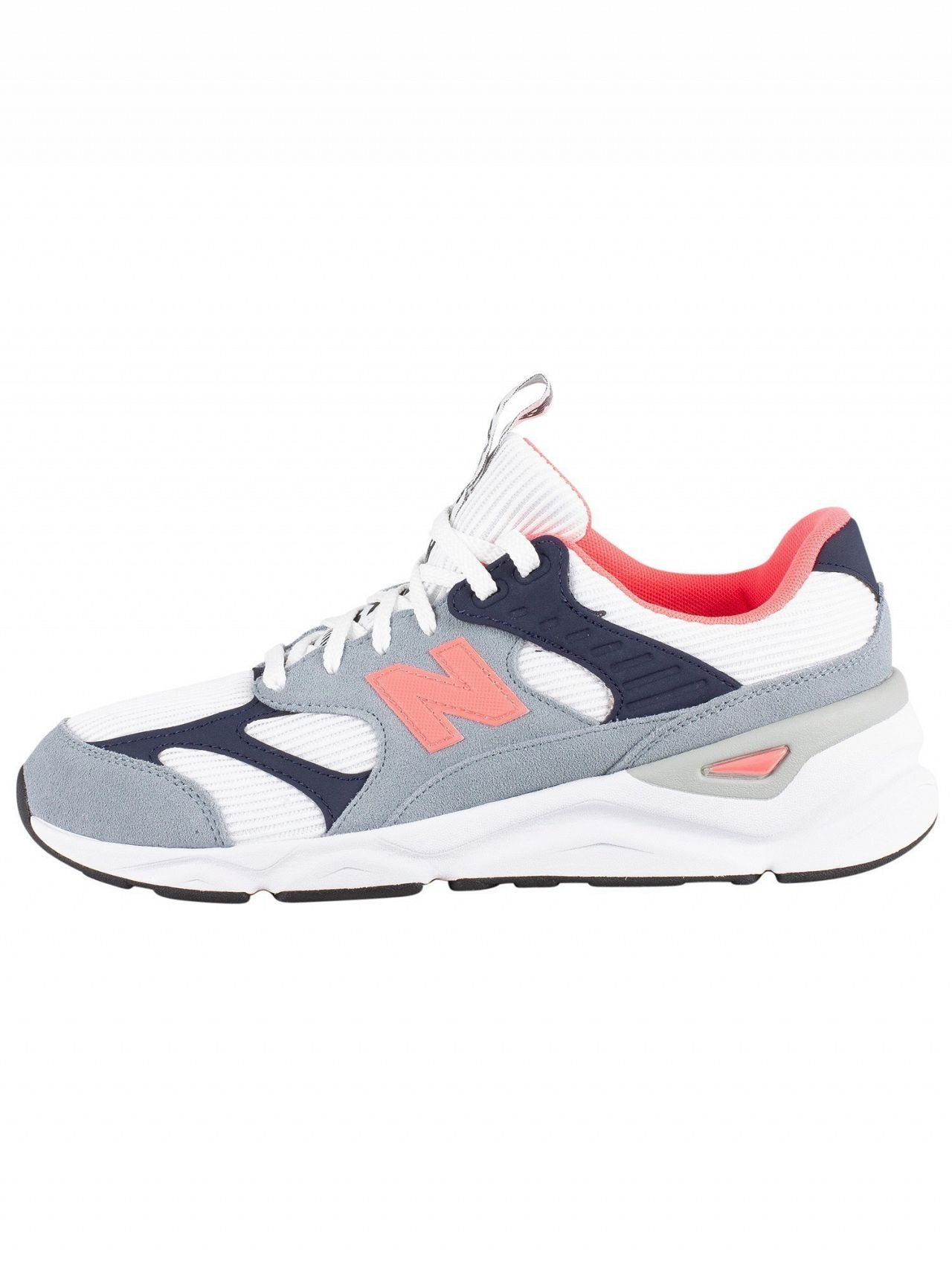 052248648f New Balance Grey/White/Navy X-90 Suede Trainers | Standout
