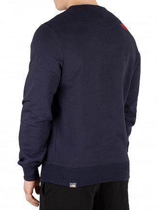 The North Face Navy/Fiery Red Drew Peak Sweatshirt
