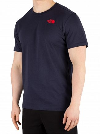 The North Face Navy/Fiery Red Red Box T-Shirt