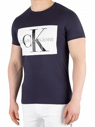 Calvin Klein Jeans Night Sky/Bright White Monogram Box Logo T-Shirt