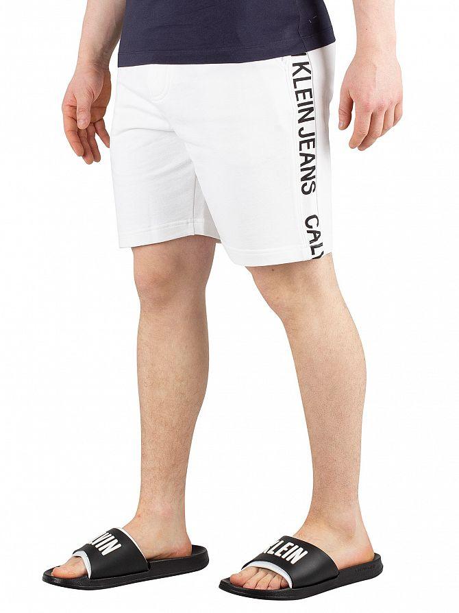 Calvin Klein Jeans Bright White Side Institution Sweat Shorts