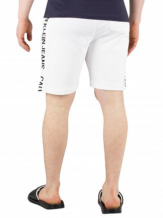 Calvin Klein Jeans Bright White Side Institution Sweat Shorts