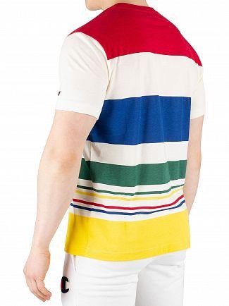 Champion White/Multi Graphic T-Shirt