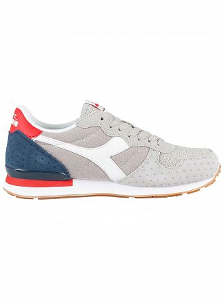 Diadora White/Blue Denim Camaro Summer Trainers