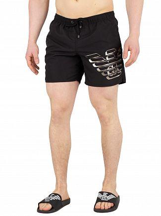 Emporio Armani Black Logo Swim Shorts