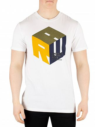 G-Star White Graphic T-Shirt