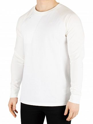 G-Star White Ore Raglan Longsleeved T-Shirt