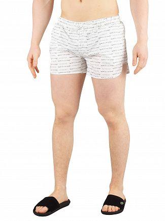 Hermano White All Over Print Beach Swim Shorts