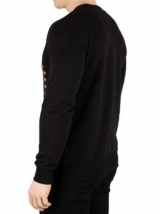 Hermano Black Box Bee Print Sweatshirt
