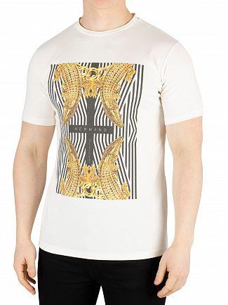 Hermano White Cross Crocodile T-Shirt