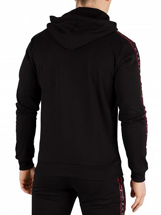 Hermano Black/Red/White Forefont Taped Overhead Hoodie