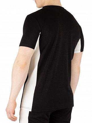 Hermano Black/White Side Panel Chest Logo T-Shirt